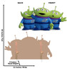 Aliens - Toy Story 4 Cardboard Cutout Front and Back View