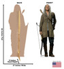 Carol Peletier Cardboard Cutout front and back view