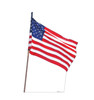 Cardboard standee of the American Flag Front View