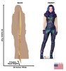 Mal - Disney's Descendants 3 Cardboard Cutout Front and Back View