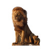Life-size cardboard standee of King Mufasa and Young Simba from Disney's live action film The Lion King Front View