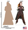 Life-size cardboard standee of Steampunk Male Front and Back View