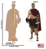 Life-size cardboard standee of a Gladiator Front and Back View