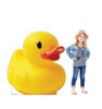 Life-size cardboard standee of a Rubber Duck Lifesize