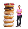 Life-size cardboard standee of a Doughnut Stack Lifesize