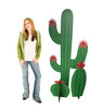 Life-size cardboard standee of a Cactus Grouping Lifesize