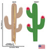 Life-size cardboard standee of a Cactus Front and Back View