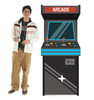 Life-size cardboard standee of an Arcade Game with model.