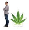 Cannabis Leaf Cardboard Cutout 3054