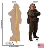 Life-size cardboard standee of Kuiil fromThe Mandalorian with back and front dimensions.