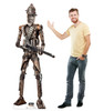 Life-size cardboard standee of IG-11 fromThe Mandalorian with model.
