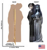 Life-size cardboard standee of The Corpse Bride and Groom with back and front dimensions.
