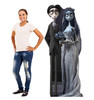 Life-size cardboard standee of The Corpse Bride and Groom with model.