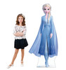 Life-size cardboard standee of Elsa from Disney's Frozen 2) with model.