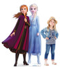 Life-size cardboard standee of Anna & Elsa from Disney's Frozen 2) with model.