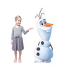 Life-size cardboard standee of Olaf from Disney's Frozen 2) with model.