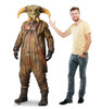 Life-size cardboard standee of BOOLIO™ (Star Wars IX) with model.