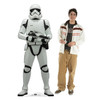 Life-size cardboard standee of Stormtrooper Infantry™ (Star Wars IX) with model.
