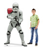 Life-size cardboard standee of Stormtrooper Officer™ (Star Wars IX) with model.