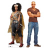 Life-size cardboard standee of Jannah™ (Star Wars IX) with model.