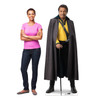 Life-size cardboard standee of Lando Calrissian™ (Star Wars IX) with model.
