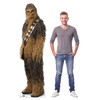 Life-size cardboard standee of Chewbacca™ (Star Wars IX) with model.