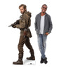 Life-size cardboard standee of Resistance Trooper™ (Star Wars IX) with model.