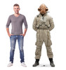Life-size cardboard standee of Mon Cal General™ (Star Wars IX) with model.