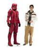 Life-size cardboard standee of Sith Trooper™ (Star Wars IX) with model.