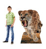 Life-size cardboard standee of the Saber Tooth Tiger with model.