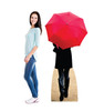 Paris Red Umbrella Cardboard Cutout 1850