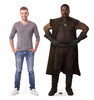 Life-size cardboard standee of Greef Karga from The Mandalorian with model.