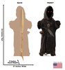 Life-size cardboard standee of Jawa from The Mandalorian with back and front dimensions.