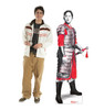 Life-size cardboard standee of Mulan as a Soldier from Disney's live action movie with model.