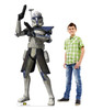 Life-size cardboard standee of the character Captain Rex from Clone Wars Season 7 with model.
