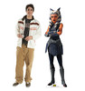 Life-size cardboard standee of the character Ahsoka Tano from Clone Wars Season 7 with model.