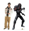 Life-size cardboard standee of the character Bad Batch Clone Hunter from Clone Wars Season 7 with model.