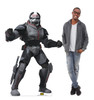 Life-size cardboard standee of the character Bad Batch Clone Wrecker from Clone Wars Season 7 with model.