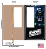 Life-size cardboard standin of Darth Vader Packaging. Celebrating 40 years, with front and back dimensions.