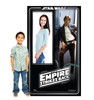 Life-size cardboard standin of Han Solo Packaging. Celebrating 40 years, with model.