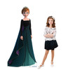 Life-size cardboard standee of Anna Epilogue Gown from Disney's Frozen 2 with model.