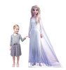 Life-size cardboard standee of Elsa Epilogue Gown from Disney's Frozen 2 with model.