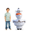 Life-size cardboard standee of Olaf from Disney's Frozen 2 with model.