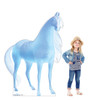 Life-size cardboard standee of the Water Nokk from Disney's Frozen 2 with model.