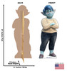 Life-size cardboard standee of Mom from Disney/Pixar's film Onward with front and back dimensions.