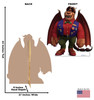 Life-size cardboard standee of Manticore from Disney/Pixar's film Onward with model.