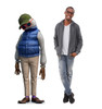 Life-size cardboard standee of Dad from Disney/Pixar's film Onward with model.