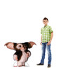Life-size cardboard standee of GizmoTM from the movie Gremlins with model.