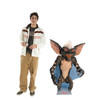 Life-size cardboard standee of a Gremlin from the movie Gremlins with model.