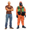 Life-size cardboard standee of a Hazmat Guy with model.